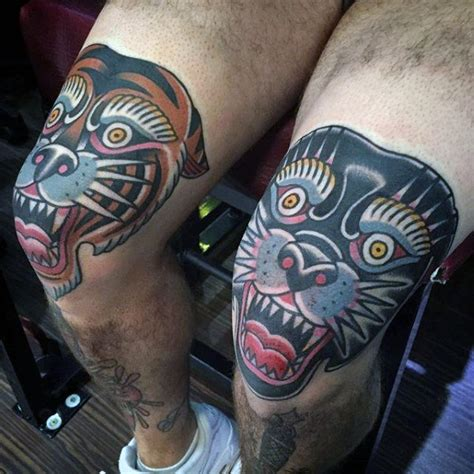 traditional panther tattoo designs  men  school
