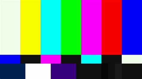 the color test smpte television color test calibration bars and 1khz sine