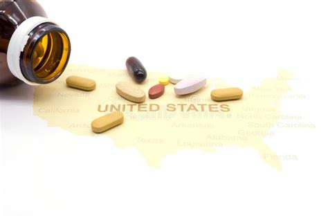 medicine   american map health care concept stock