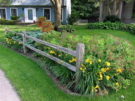 split rail fence landscaping ideas split rail fence installed by my husband to create an