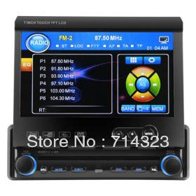 1 din detachable panel in dash car deck unit dvd player 7 quot touch screen car stereo