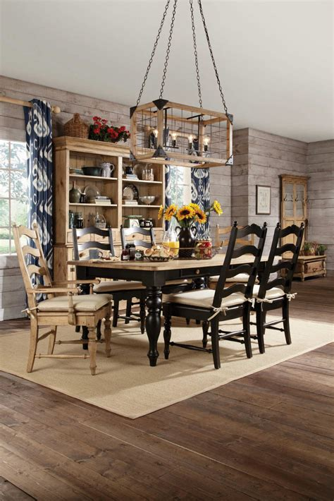 farm table dining set kincaid homecoming solid wood farmhouse leg dining table