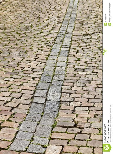 Old Cobblestone Street In Prague Stock Photo Image Of