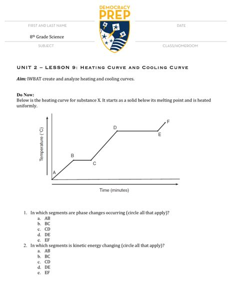 Worksheet Heating Curve Worksheet Answers Grass Fedjp Worksheet Study Site