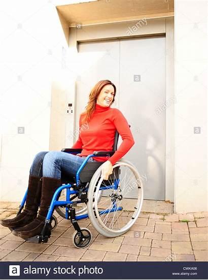Wheelchair Woman Alamy Shopping Cart