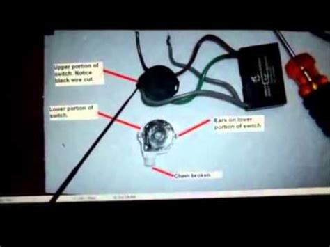 hunter ceiling fan  wire switch repair youtube
