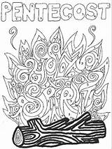 Pentecost Coloring Pages Crafts Sunday Church Activities Bible Catholic Ascension Holy Spirit Craft Lessons Christian Getdrawings Lesson Freecoloringpages Visit sketch template