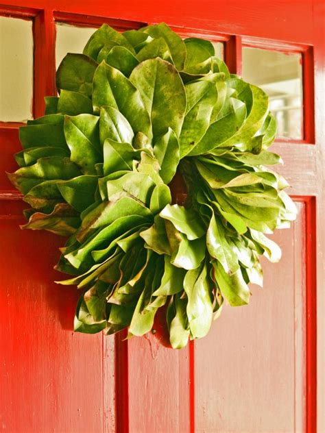 fresh magnolia wreath hgtv