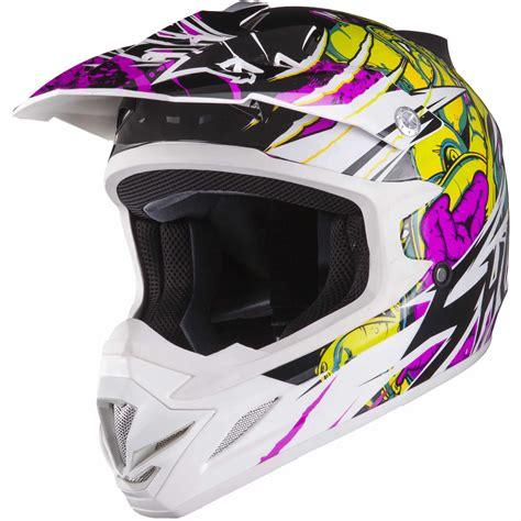 purple motocross shox mx 1 scream white purple green motocross helmet motox