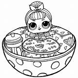 Lol Surprise Coloring Pages Dolls Printable Doll Bowl sketch template