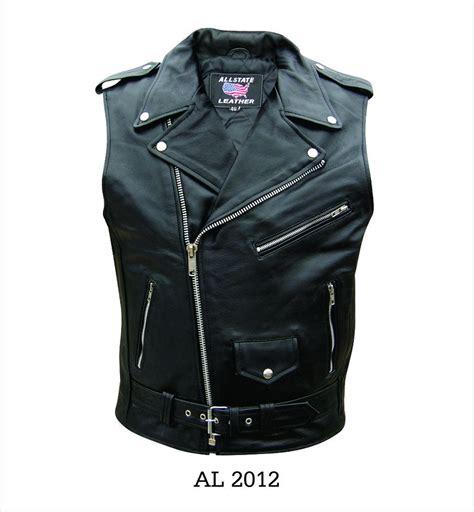 motorcycle vest mens sleeveless jacket black buffalo leather motorcycle