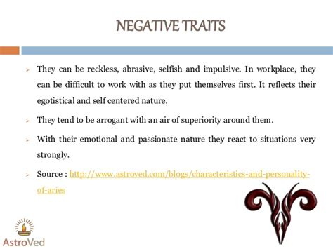 aries negative characteristics aries horoscope aries characteristics and personality of