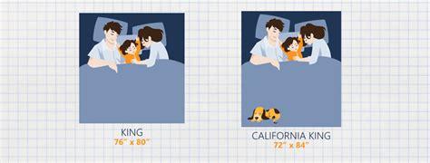 california king mattress dimensions king vs california king bed size the sleep advisor