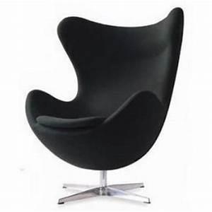 fauteuil design egg chair noir With fauteuil design confortable