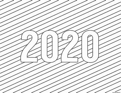 Coloring Pages Printable 2021 Happy Simple Calendar
