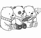 Bears Coloring sketch template