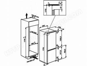 Frigo Encastrable Dimension : refrigerateur encastrable dimensions standard table de ~ Premium-room.com Idées de Décoration