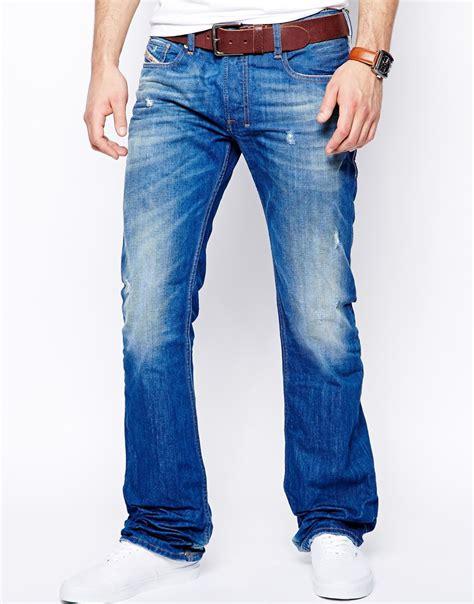 light jeans mens diesel jeans zatiny 823u bootcut light wash in blue for
