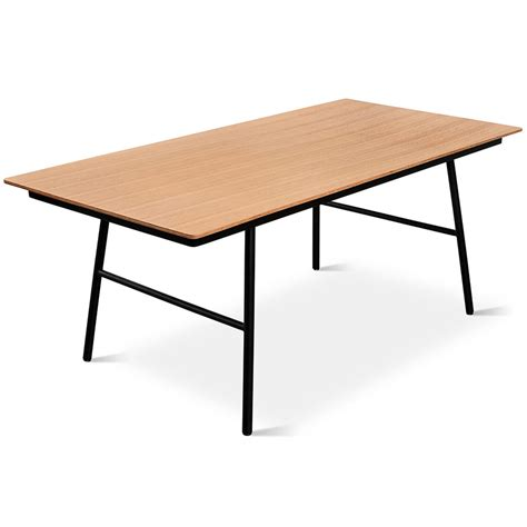 Gus School Dining Table in Natural Oak Eurway
