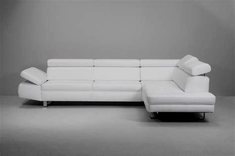 canapé cuir blanc design canapé design 3 places bandibandi cuir blanc