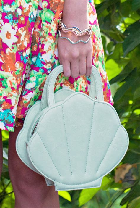 mermaid whimsy sea shell purse  pearl white sincerely