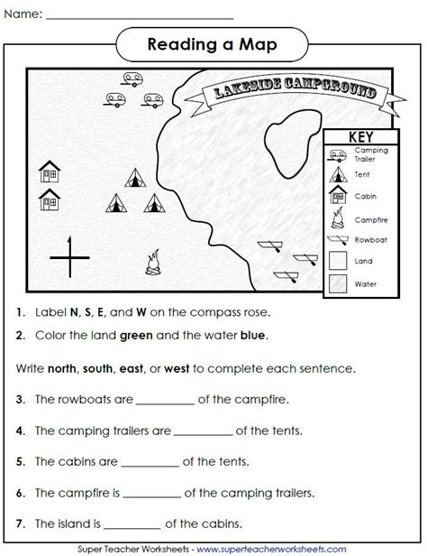 Check Out This Worksheet From Our Map Skills Page To Help Students Learn How To Use Cardinal