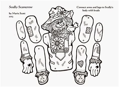 scarecrow clothes template for large