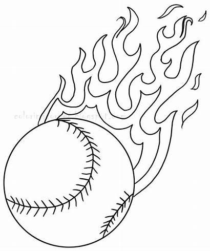 Coloring Pages Baseball Printable