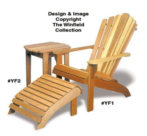 outdoor furniture plans adirondack pattern combo set