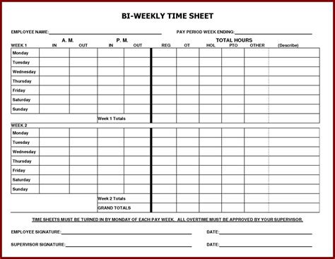 daily time sheet printable printable degree