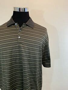 Mens NIKE GOLF Polo Shirt XL Brown TIGER WOODS COLLECTION ...