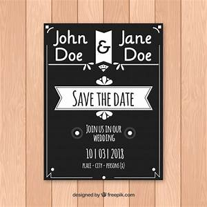 elegant black and white wedding invitation vector free With black and white wedding invitations vector