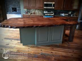 ready made kitchen islands live edge wood slab countertop littlebranch farm