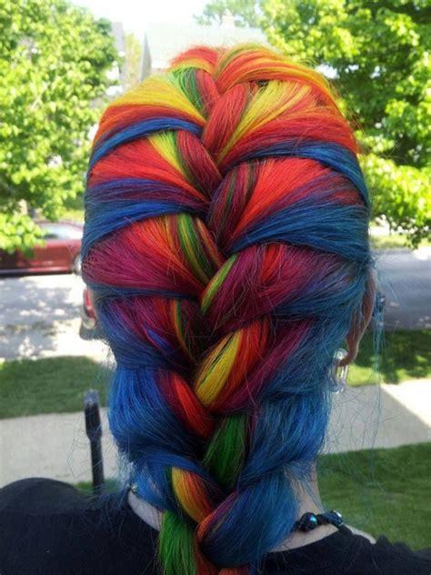 4 Rainbow French Braid Rainbow Braids That Will Make