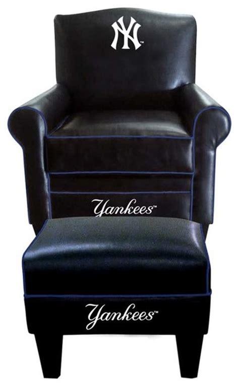 new york yankees mlb time chair ottoman modern