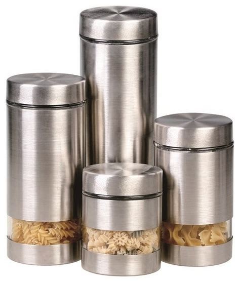 contemporary kitchen canisters rotunda 4 piece canister set contemporary kitchen canisters and jars by overstock com
