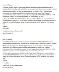 Medical School Recommendation Letter Sample