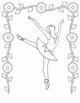 Coloring Ballet Pages Dancer Printable Ballerina Colouring Sheet Realistic sketch template