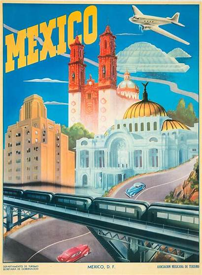Mexico Travel Postcards Poster Mexican Tourism Posters