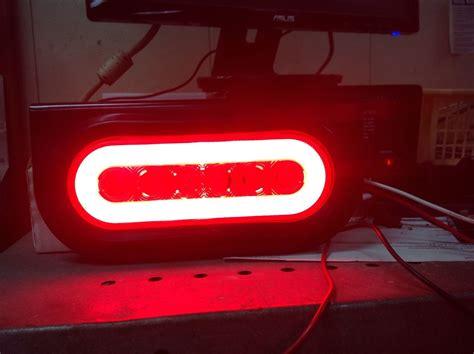 led truck lights 6 oval s t t led truck trailer brake light w