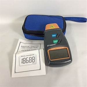 Digital Laser Tachometer Photo Non Contact Speed Gauge