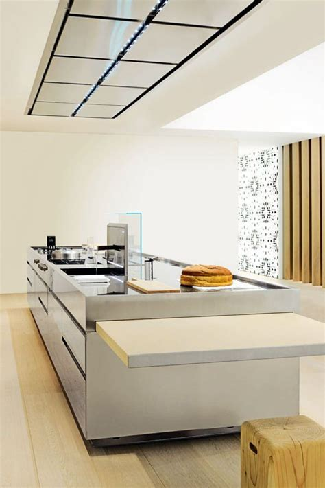 cocina minimalista  isla imagenes  fotos