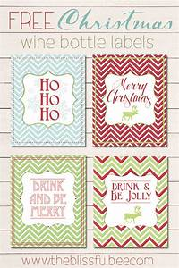 free christmas wine bottle labels the blissful bee With free wine labels to print