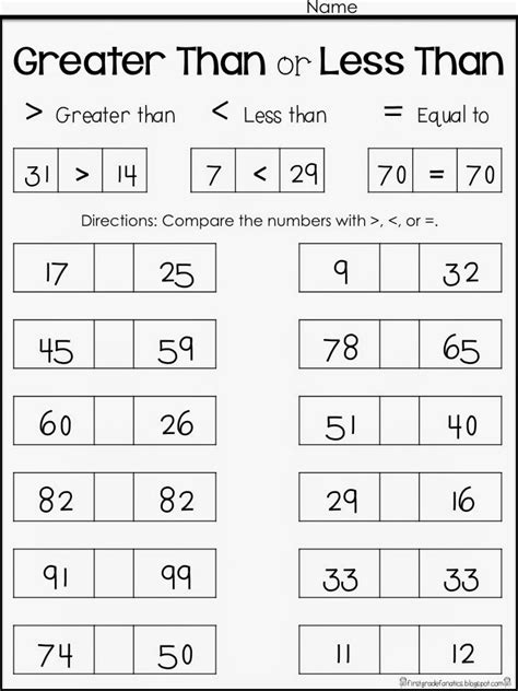 math worksheets grade 3 greater than less than check out