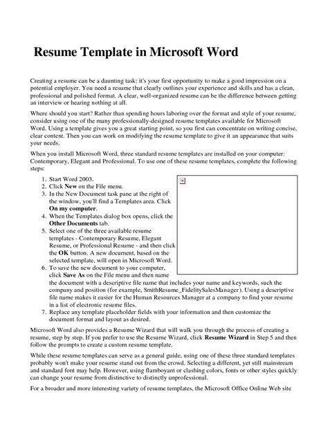 Microsoft Word Resume Builder by Microsoft Word Resume Builder Professional Template Free