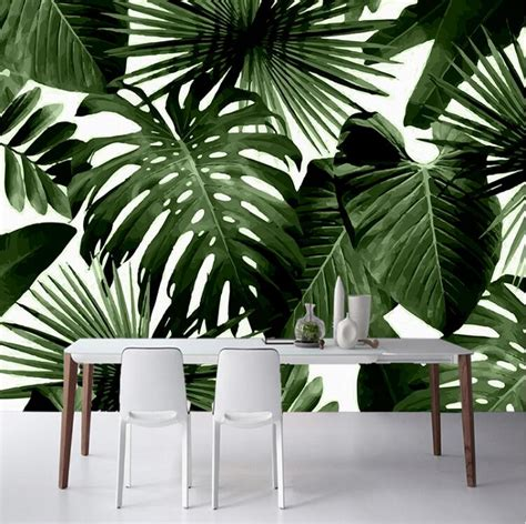 bali tropical palm leaves wallpaper chadstorecouk
