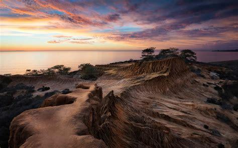 Nature Landscape Desert Coast Sunset Sea Wallpapers
