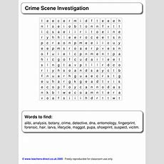 Crime Scene Investigation Worksheet By Susiejay  Uk Teaching Resources Tes