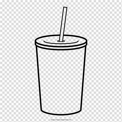 Straw Drawing Cup Clipart Juice Coloring Vaso