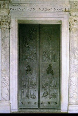 idle speculations st peters basilica  door  death